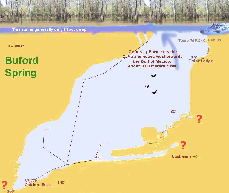 Map Of Springs In Florida.Buford Spring